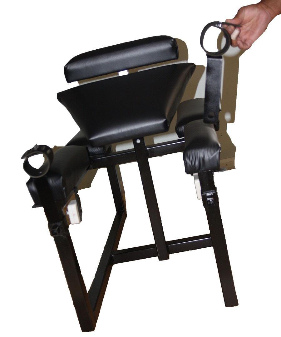 Time cuffs for steel bench, Robospanker.com